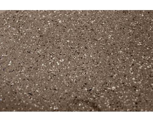 Сковорода литая из алюминия (коричневый гранит) Ø22. Ручка съемная