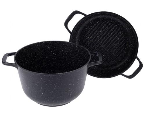 Казан Black Granite с крышкой-сковородой 5л.